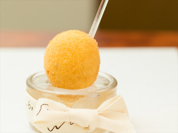 Comté cheese and truffle croquette
